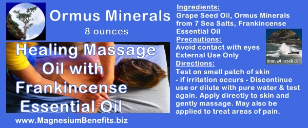 Ormus Minerals Healing Massage Oil with Frankincense