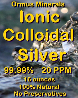 Ormus Minerals Ionic Colloidal Silver