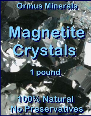 Ormus Minerals -MAGNETITE Crystals