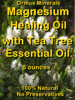 Ormus Minerals -Magnesium Healing Oil with Tea Tree Essential Oil