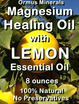 Ormus Minerals -Magnesium Healing Oil with LEMON Essential Oil