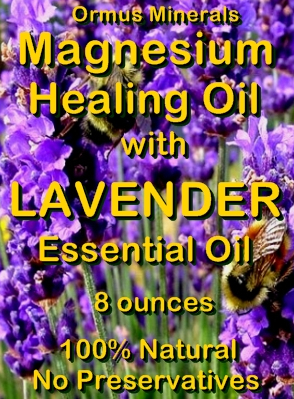 Ormus Minerals -Magnesium Healing Oil with LAVENDER Essential Oil